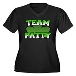 Team Patty Women's Plus Size V-Neck Dark T-Shirt