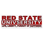 Red State University Bumper Sticker