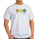 Peace Love Occupational Therapy Light T-Shirt