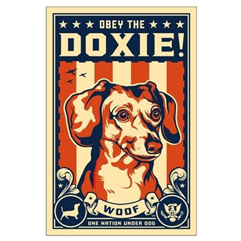 Obey the Doxie! USA Large Poster