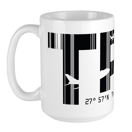 Tampa Florida TPA Air Wear Large Mug