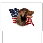 Chocolate Lab Flag Yard Sign