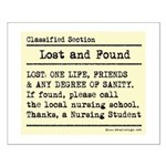 Lost Found Student Nurse Small Poster