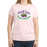 Mardi Gras Women's Pink T-Shirt