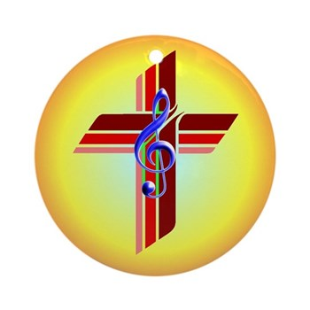 Cross Clef Ornament