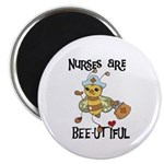 "Nurses Are Bee-utiful 2.25"" Magnet (10 pack)"