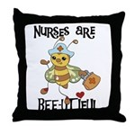 Nurses Are Bee-utiful Throw Pillow