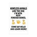 &amp;quot;Homeless Animals&amp;quot; Rectangle Sticker 50