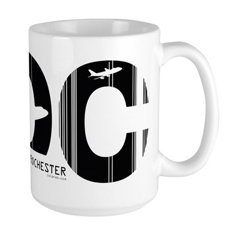 Rochester New York Airport ROC Large Mug