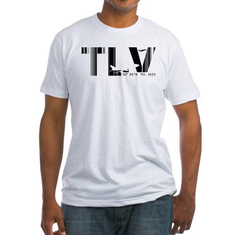 Tel Aviv Israel Airport Code TLV Fitted T-Shirt
