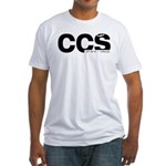 Caracas Airport Code CCS Black Des. Fitted T-Shirt