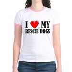 Love My Rescue Dogs Jr. Ringer T-Shirt
