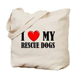 Love My Rescue Dogs Tote Bag