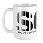 Santiago Airport Code Chile SCL Large Mug