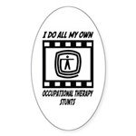 Occupational Therapy Stunts Oval Sticker