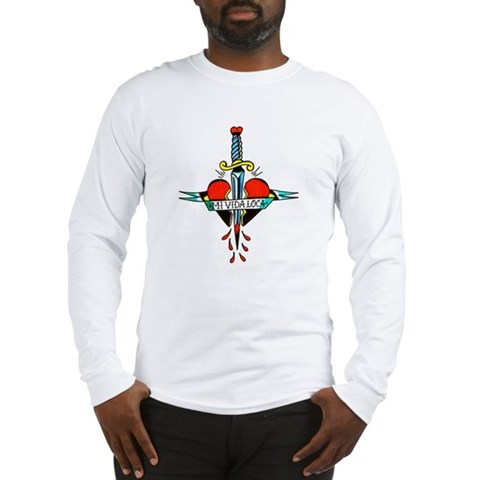 Mi Vida Loca Tattoo Art Long Sleeve T-Shirt