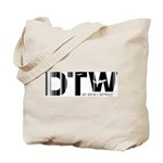 Detroit Airport Code Michigan DTW Tote Bag