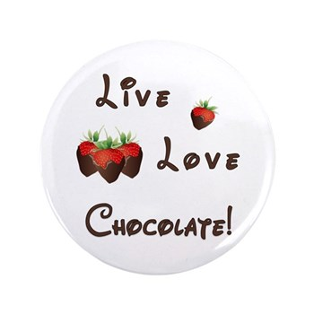 Live Love Chocolate Buttons, Stickers, Books and Note Cards