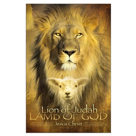 Christian Poster: Lion of Judah, Lamb of God
