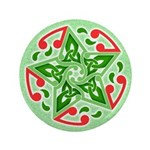 "Celtic Christmas Star 3.5"" Button"