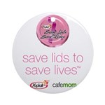 Save Lids to Save Lives Ornament (Round)