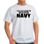 Property of US Navy Ash Grey T-Shirt