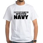 Property of US Navy White T-Shirt