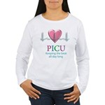 PICU Keeping the beat all day Women's Long Sleeve