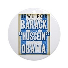 Jews For Barack Obama Ornament (Round)