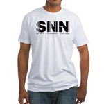 Shannon Airport Code Ireland SNN Fitted T-Shirt