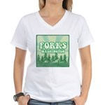 Twilight Forks Women's V-Neck T-Shirt
