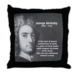Irish Idealist: George Berkeley Throw Pillow
