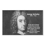 Irish Idealist: George Berkeley Sticker (Rectangul