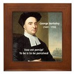 Philosopher: George Berkeley Framed Tile