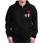I Heart Obama Biden Zip Hoodie (dark)