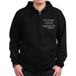 You Cook I Eat Zip Hoodie (dark)