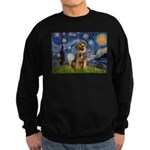 Starry Night / Border Terrier Sweatshirt (dark)