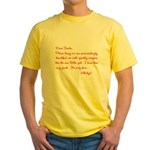 Twilight Edward Christmas Yellow T-Shirt