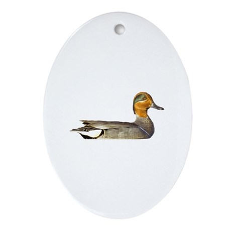 green winged teal duck ornament