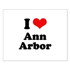I love Ann Arbor Small Poster