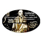 Confucius Oval Sticker