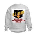 U.S. Army Killing Terrorists Kids Sweatshirt