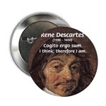 "Philosopher Rene Descartes 2.25"" Button (100 pack)"