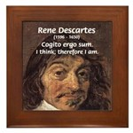 Philosopher Rene Descartes Framed Tile