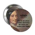 "French Philosopher: Voltaire 2.25"" Button (100 pac"