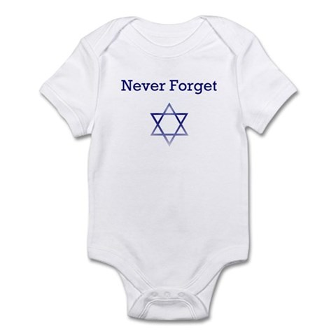 Holocaust Remembrance Star of David Infant Creeper