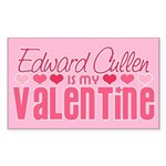Edward Twilight Valentine Rectangle Sticker 10 pk