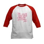 Twilight Valentine Kids Baseball Jersey