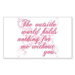 Twilight Valentine Rectangle Sticker 50 pk)