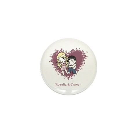Rosalie & Emmett Mini Button